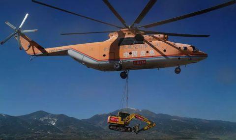 巨无霸直升机助力打通大凉山最后通村公路